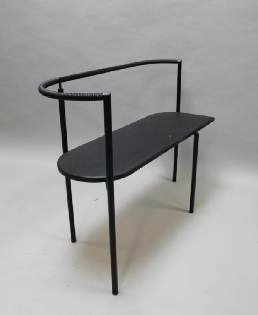 Post Modern Black Bench Attr. to Ettore Sottsass