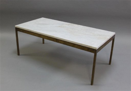 Florence Knoll Solid Brass Marble Coffee Table Jan 14 2018