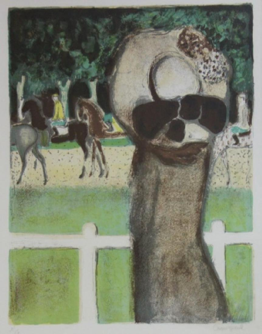 """Jean Pierre Cassigneul Litho """"Longchamp"""""""