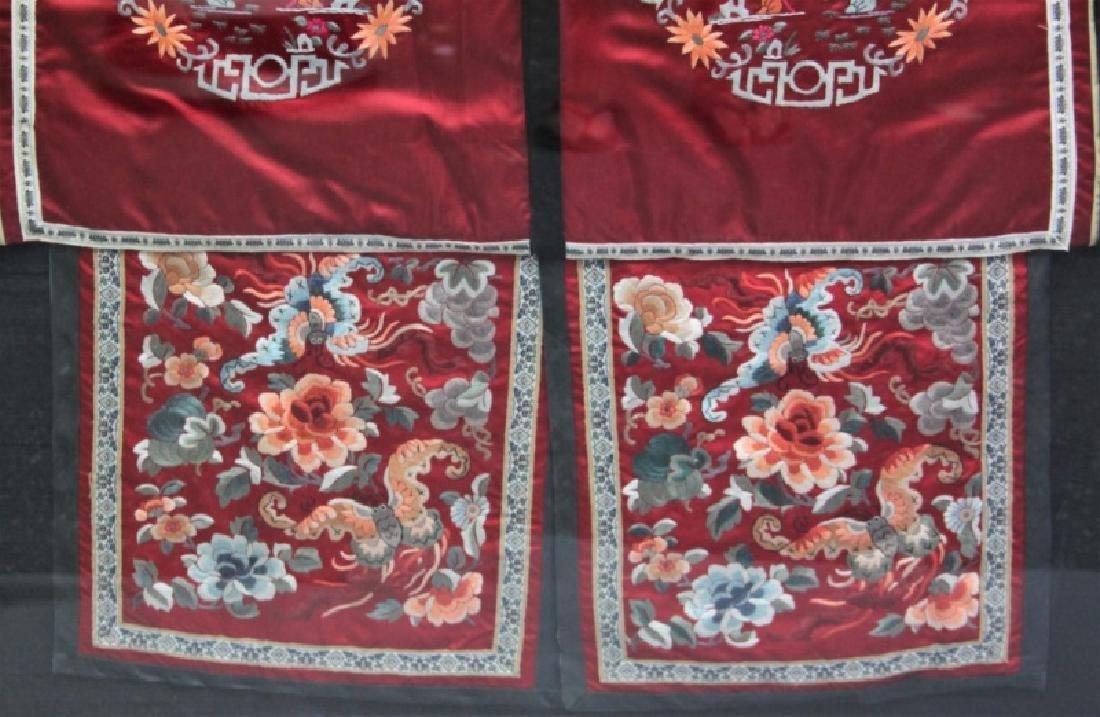 Framed Chinese Silk Embroidered Mandarin Jacket - 6