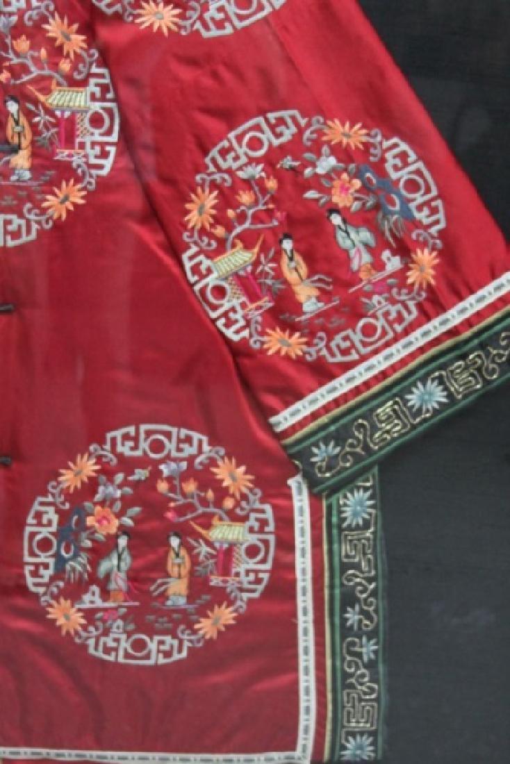 Framed Chinese Silk Embroidered Mandarin Jacket - 7