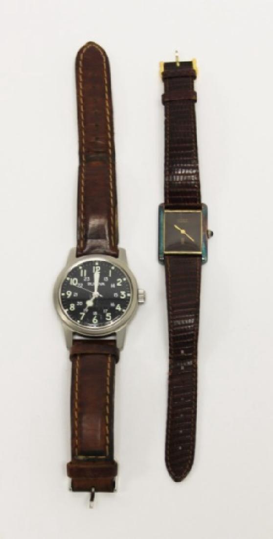 Bulova WWII Hack Watch & Ladies Cartier Tank Watch