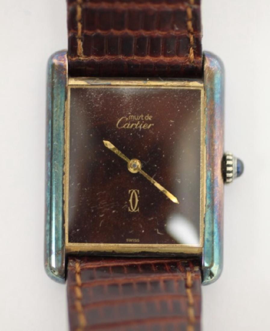Bulova WWII Hack Watch & Ladies Cartier Tank Watch - 4