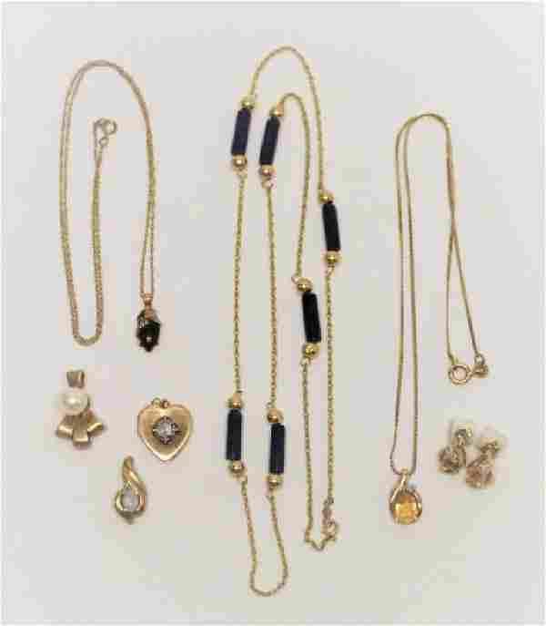 (8) Pcs Vintage 14K Gold & Gemstone Jewelry
