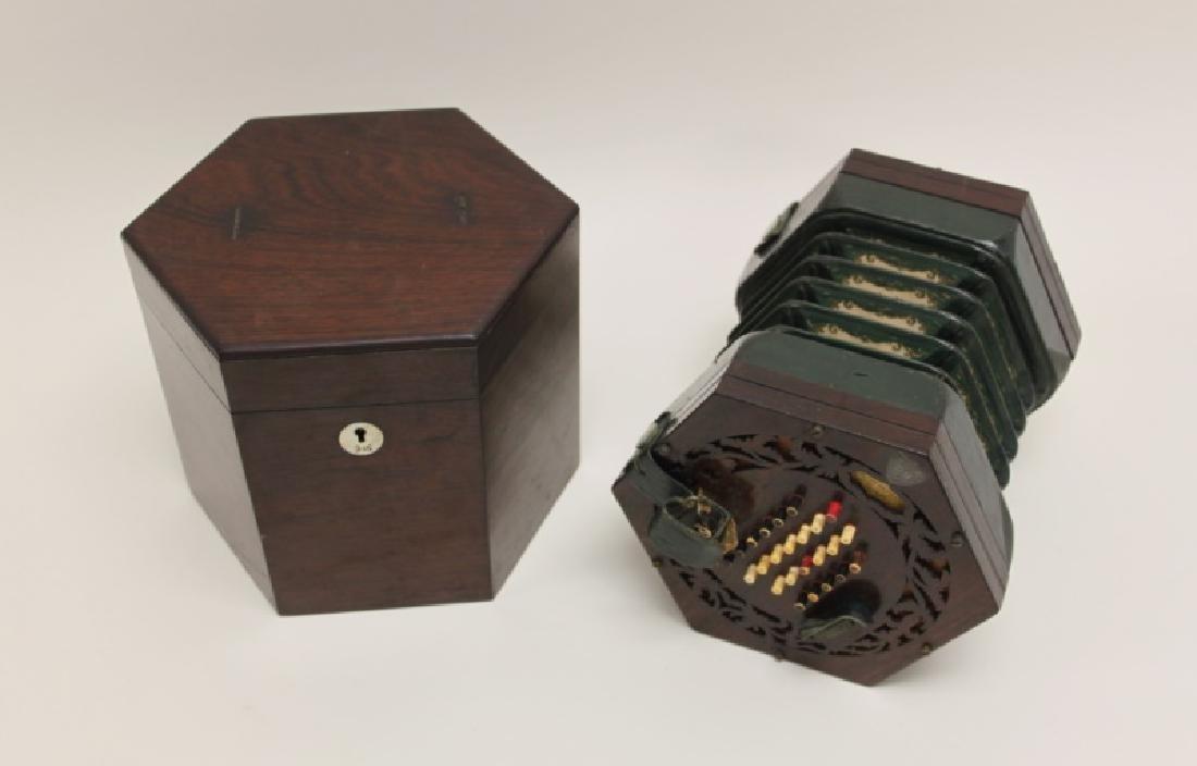 1850 George Case, London Rosewood Concertina & Box - 2