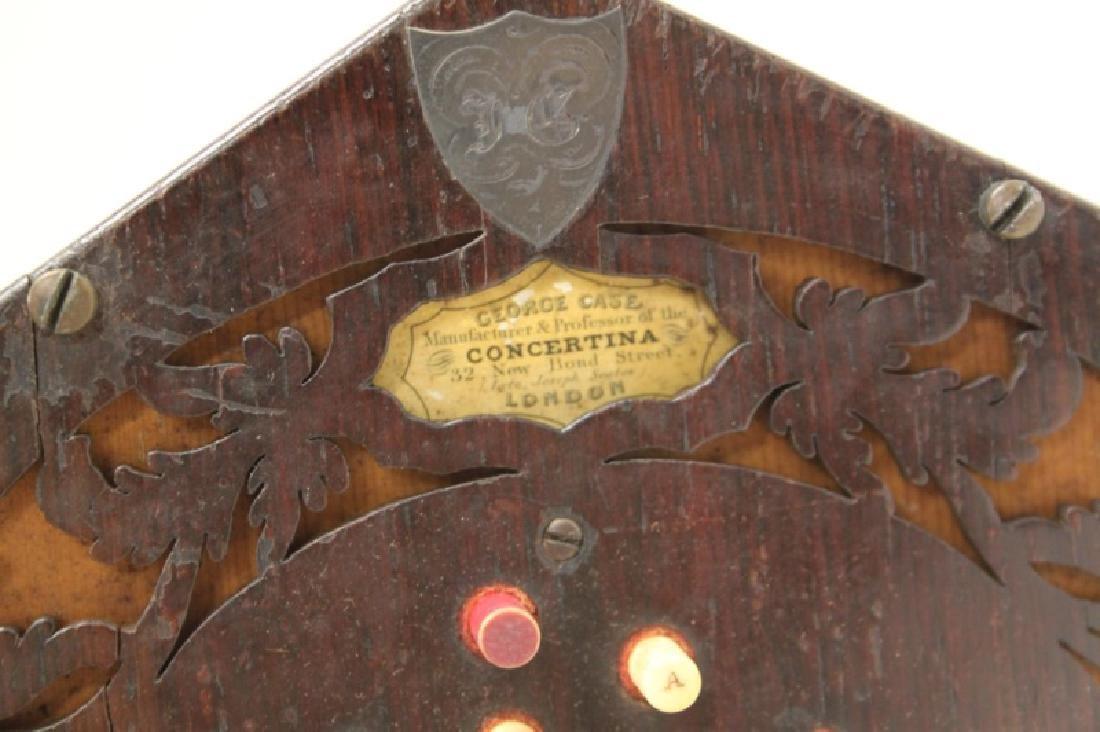 1850 George Case, London Rosewood Concertina & Box - 6