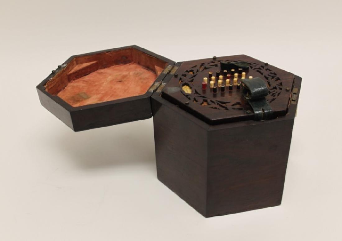 1850 George Case, London Rosewood Concertina & Box - 7