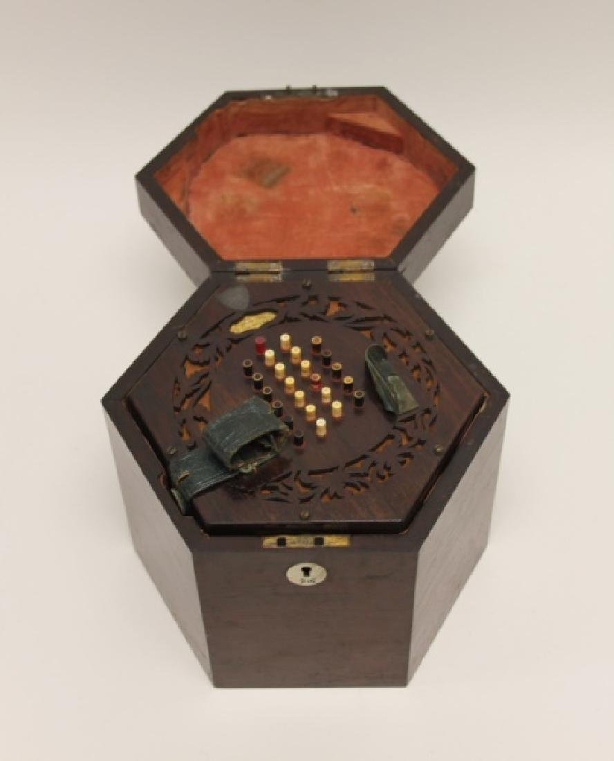 1850 George Case, London Rosewood Concertina & Box - 8