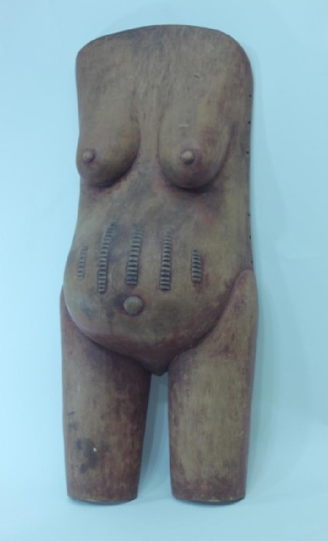 African Pregnancy Ritual Life Size Female Torso