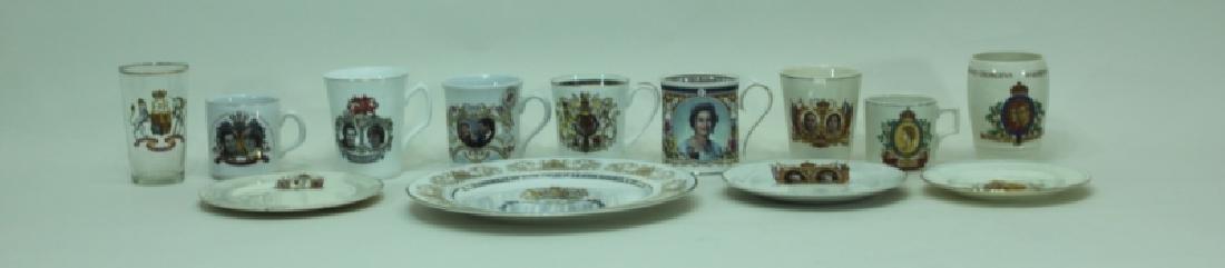 11pc English Commemoratives Elizabeth George Diana