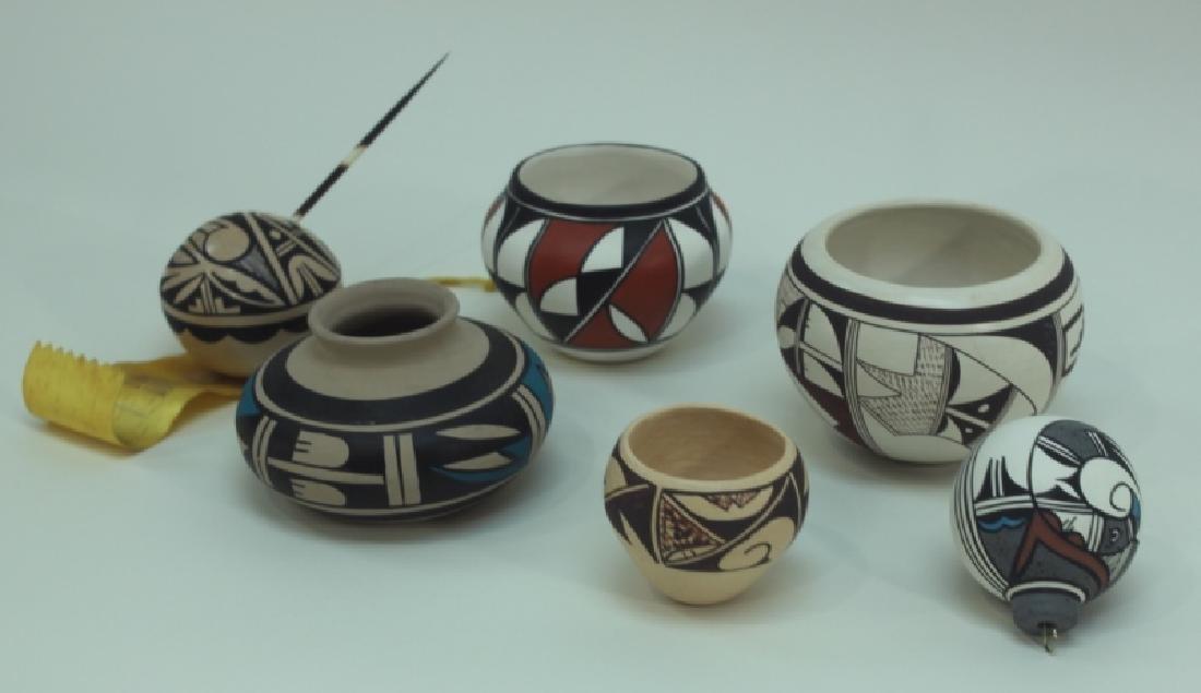 (6) Hopi Indian Painted Pottery Isleta & Jemez NM
