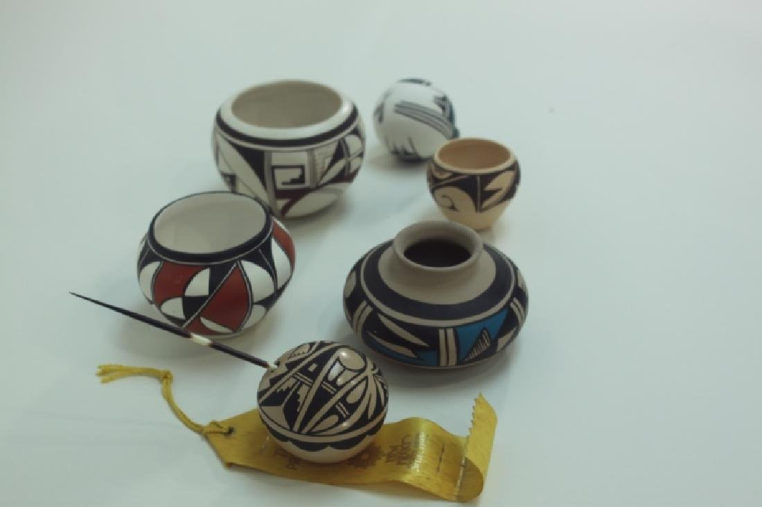 (6) Hopi Indian Painted Pottery Isleta & Jemez NM - 2