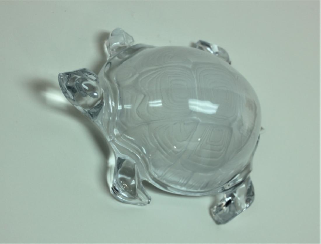 Vintage Daum France Life Size Crystal Turtle - 5