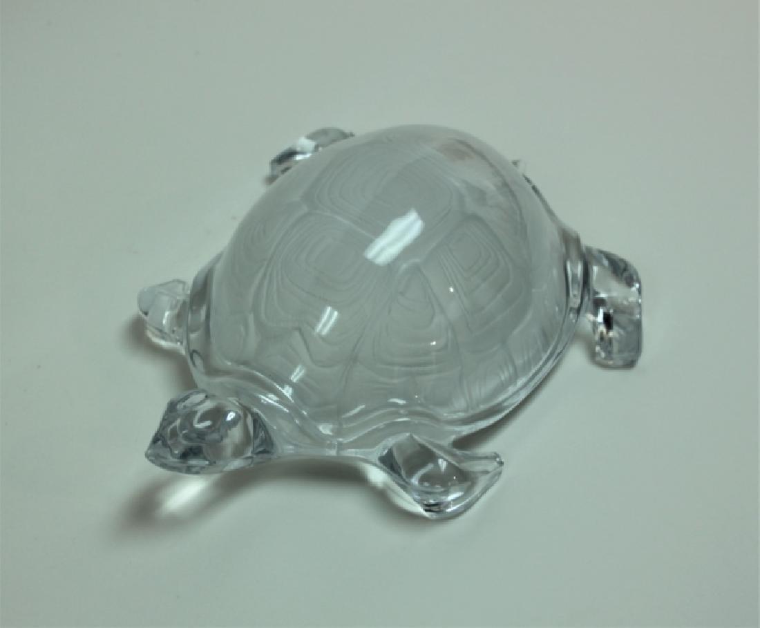 Vintage Daum France Life Size Crystal Turtle - 6