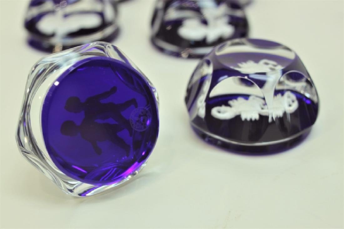 (12) Baccarat Zodiac Sulfide Paperweights - 3