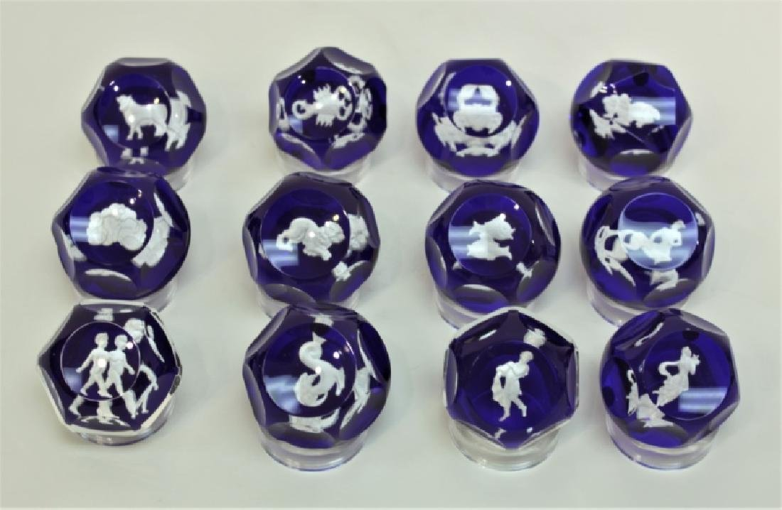 (12) Baccarat Zodiac Sulfide Paperweights - 4