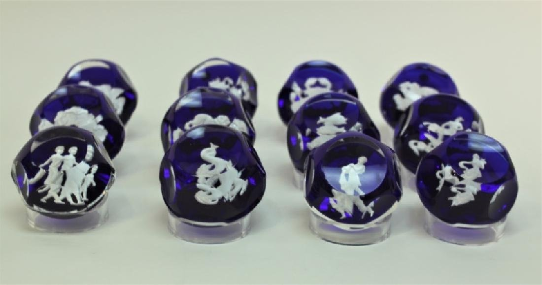 (12) Baccarat Zodiac Sulfide Paperweights - 5