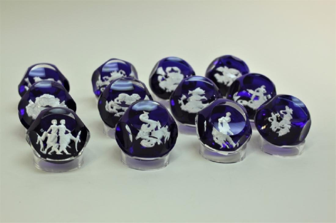 (12) Baccarat Zodiac Sulfide Paperweights - 6