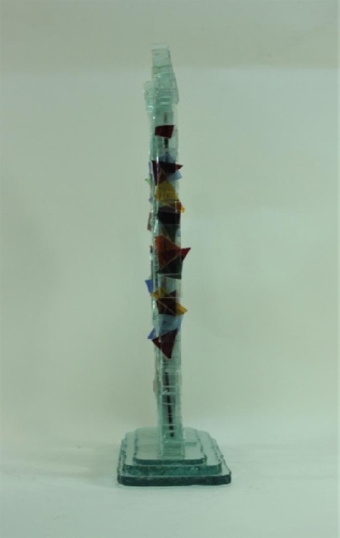 Regis Vintage Brutalist Glass Twin Tower Sculpture - 5