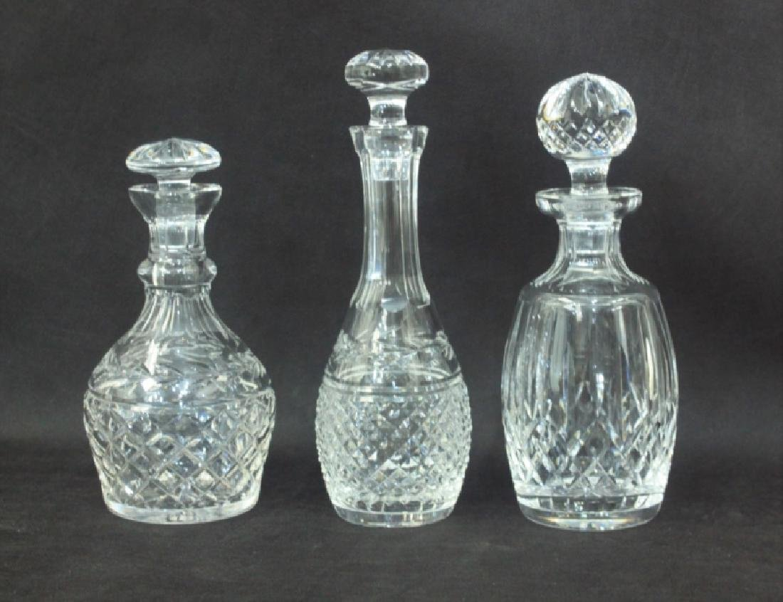 (3)Waterford Crystal Decanter & Stopper Sets