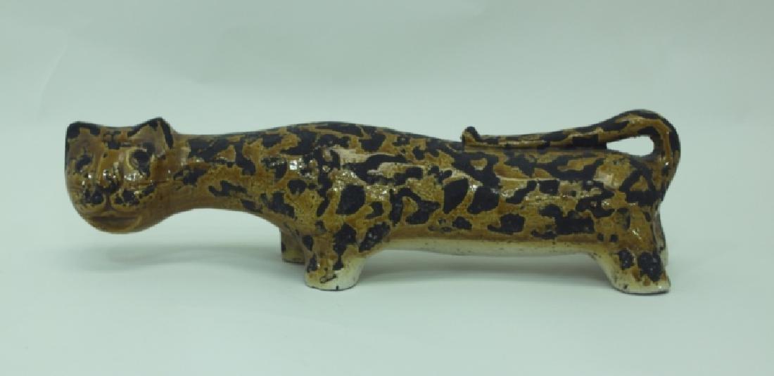 Vintage Rosenthal Netter Italian Pottery Leopard - 2