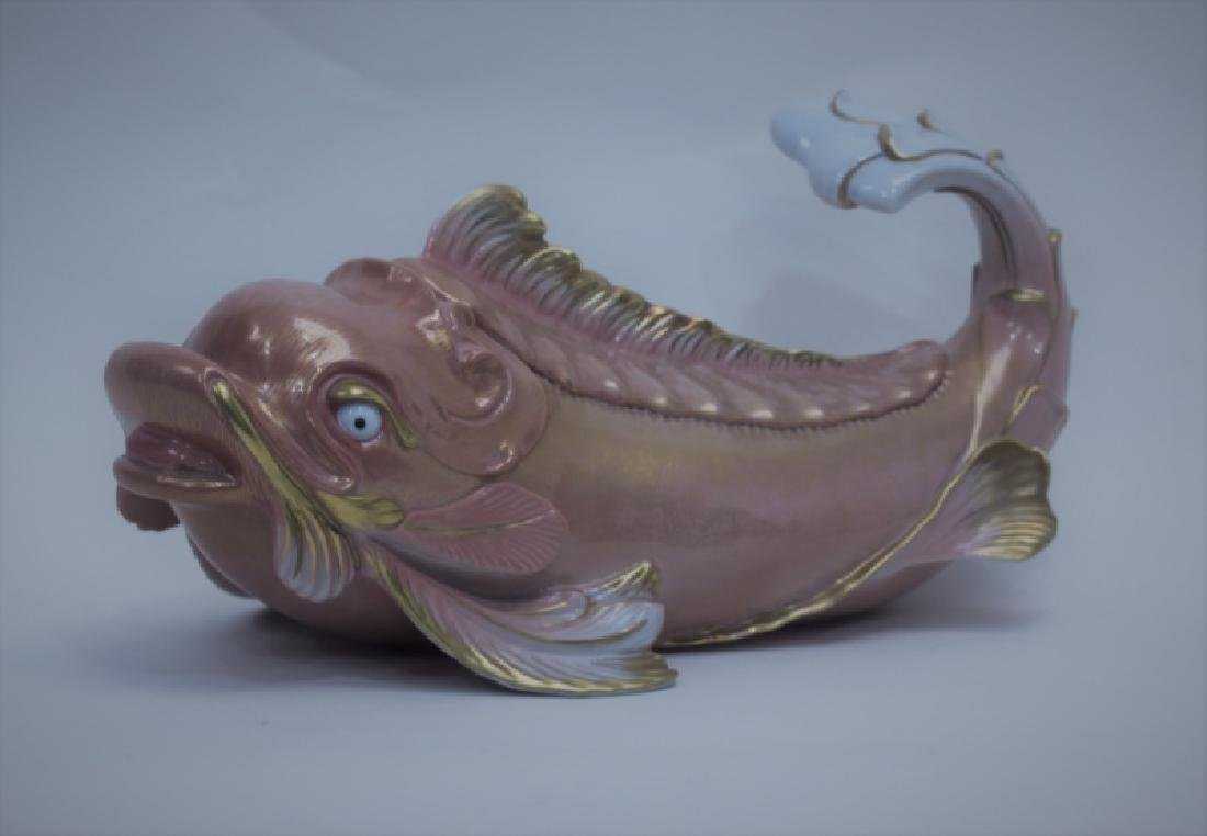 Oggetti Mangani Porcelain Fish Dolphin Sculpture - 2