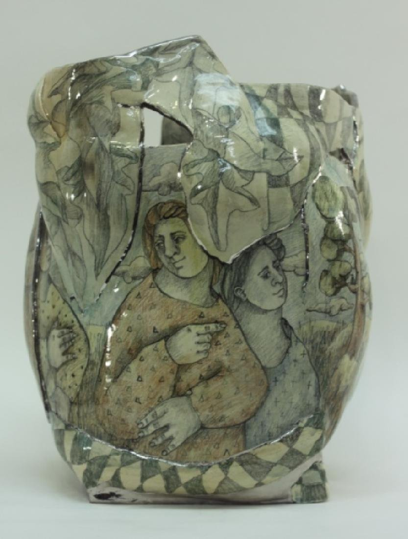 Mary Lou Higgins American, 1926-2012 Art Pottery - 2