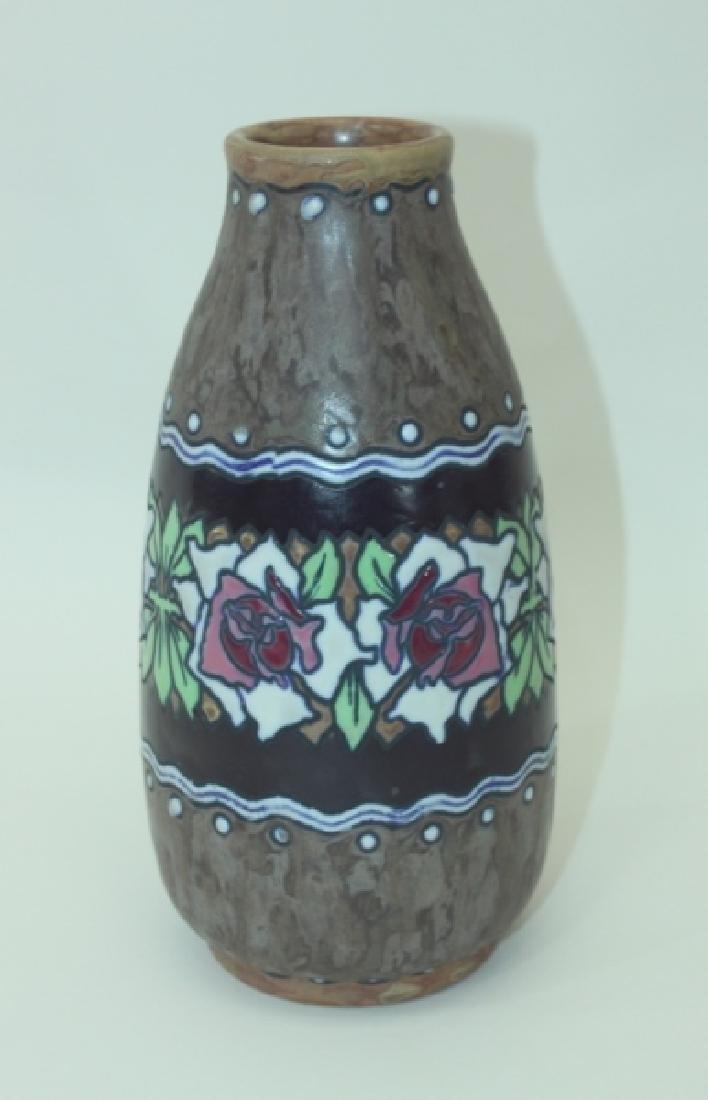 1920's Belgian Gres Keramis Boch Freres Vase