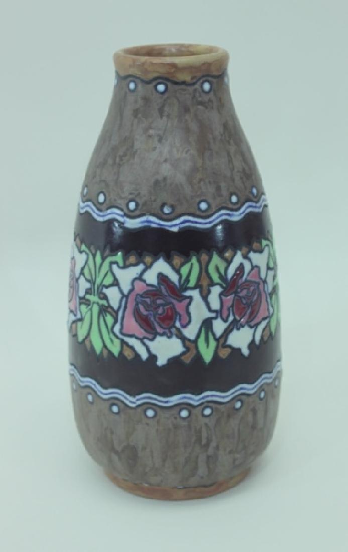1920's Belgian Gres Keramis Boch Freres Vase - 2
