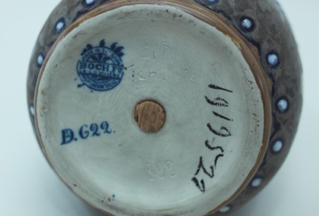 1920's Belgian Gres Keramis Boch Freres Vase - 5