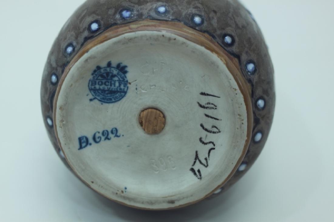 1920's Belgian Gres Keramis Boch Freres Vase - 6