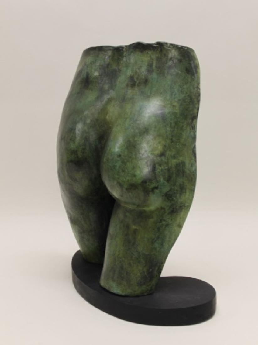 70's Vintage Bronze Nude Sculpture Female Buttocks - 3