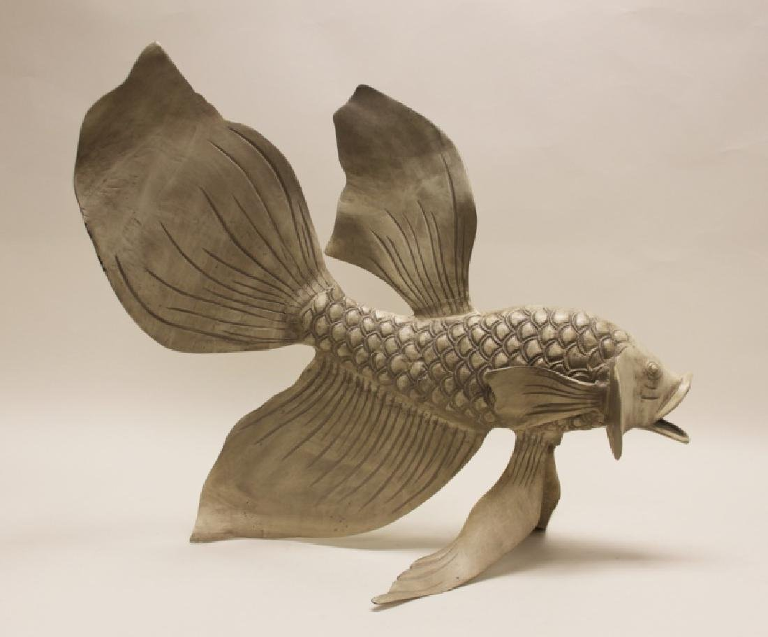 Forged & Cast Iron Siamese Fighting Fish Sculpture