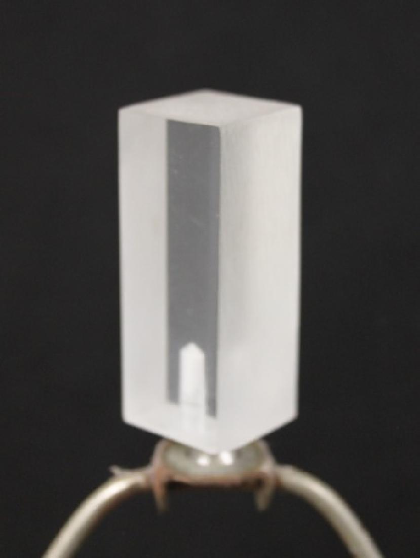 Pair Vintage Geometric Sail Form Lucite Lamps - 9