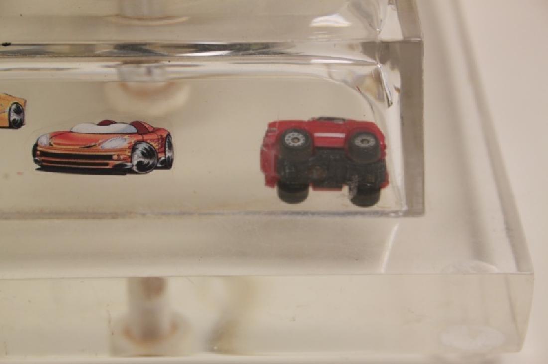 (2)Lucite Lamps Encased Matchbox Cars in Camshaft - 9