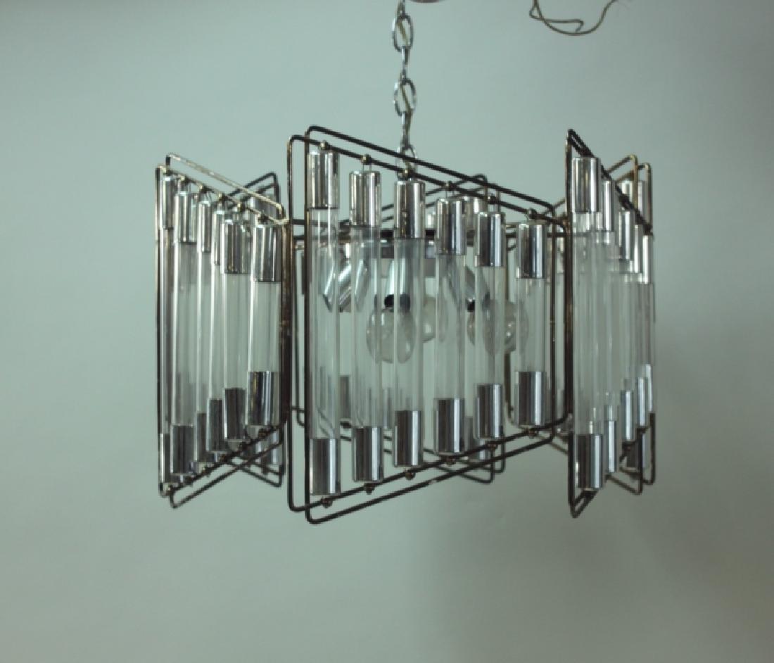Gaetano Scolari Modernist Hanging Light Fixture