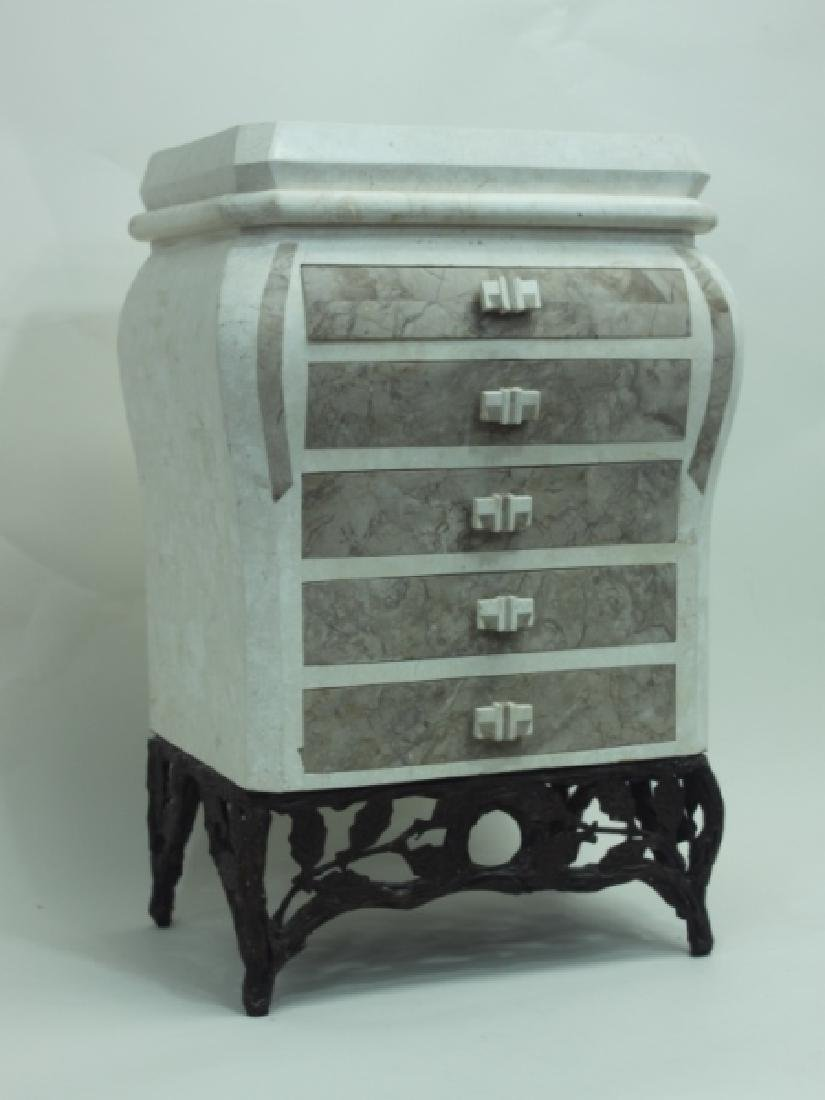 Maitland Smith Tessellated 5 Drawer Ladies Chest