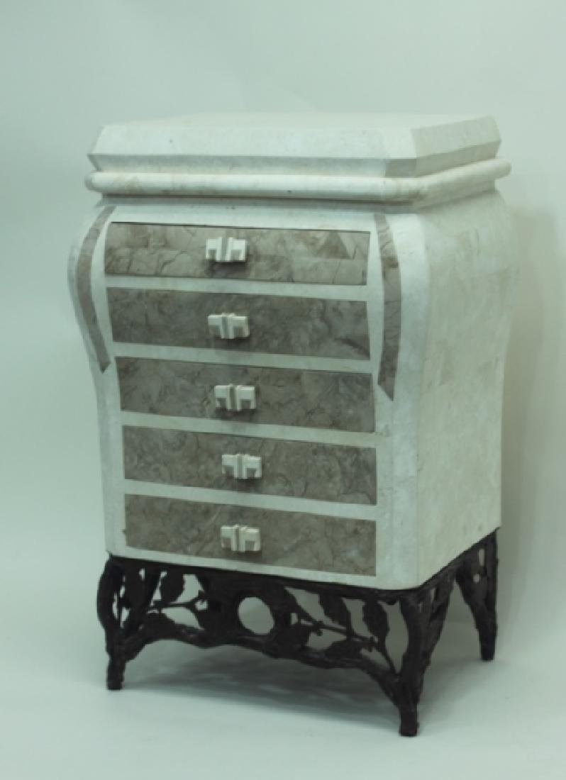 Maitland Smith Tessellated 5 Drawer Ladies Chest - 2