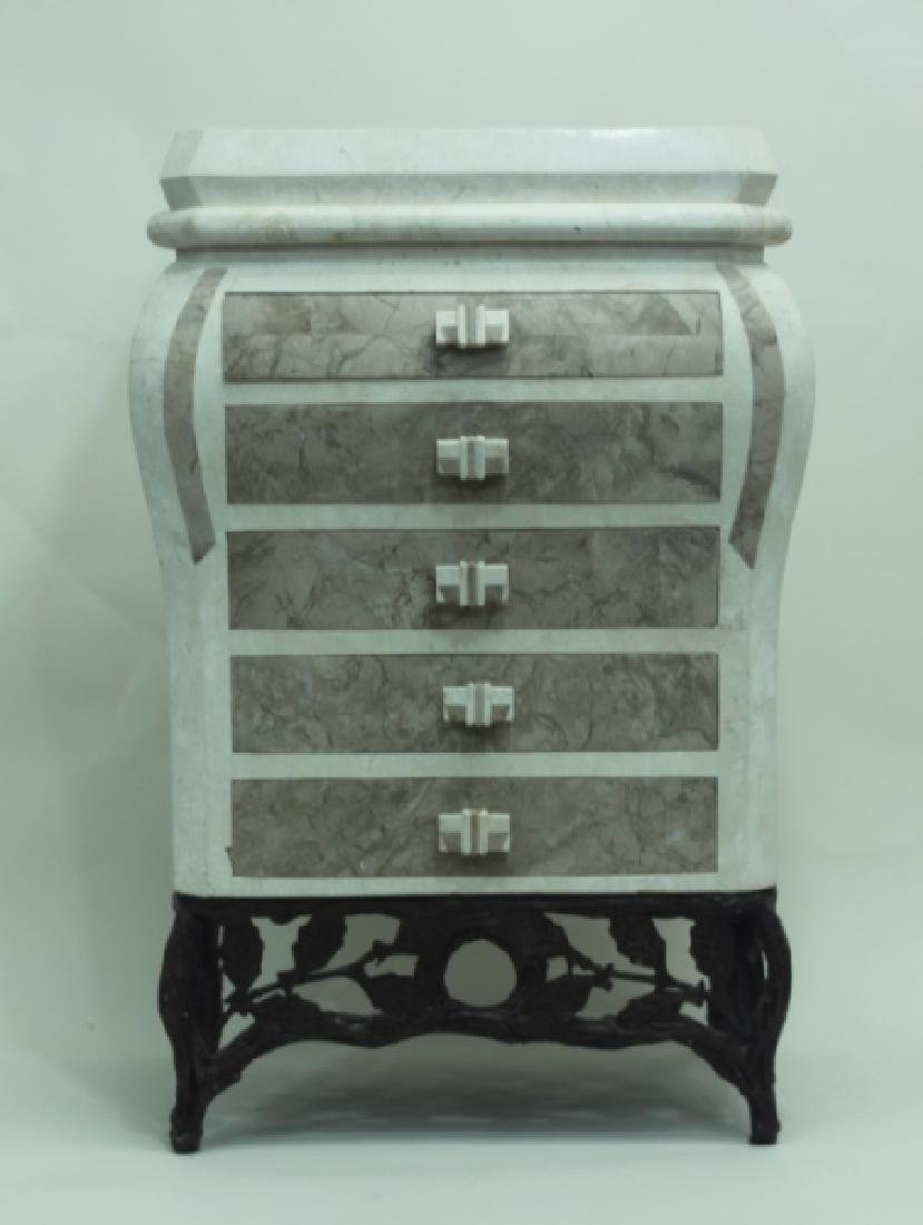 Maitland Smith Tessellated 5 Drawer Ladies Chest - 3