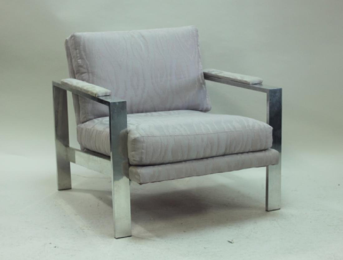 MCM Milo Baughman Aluminum Frame Lounge Chair