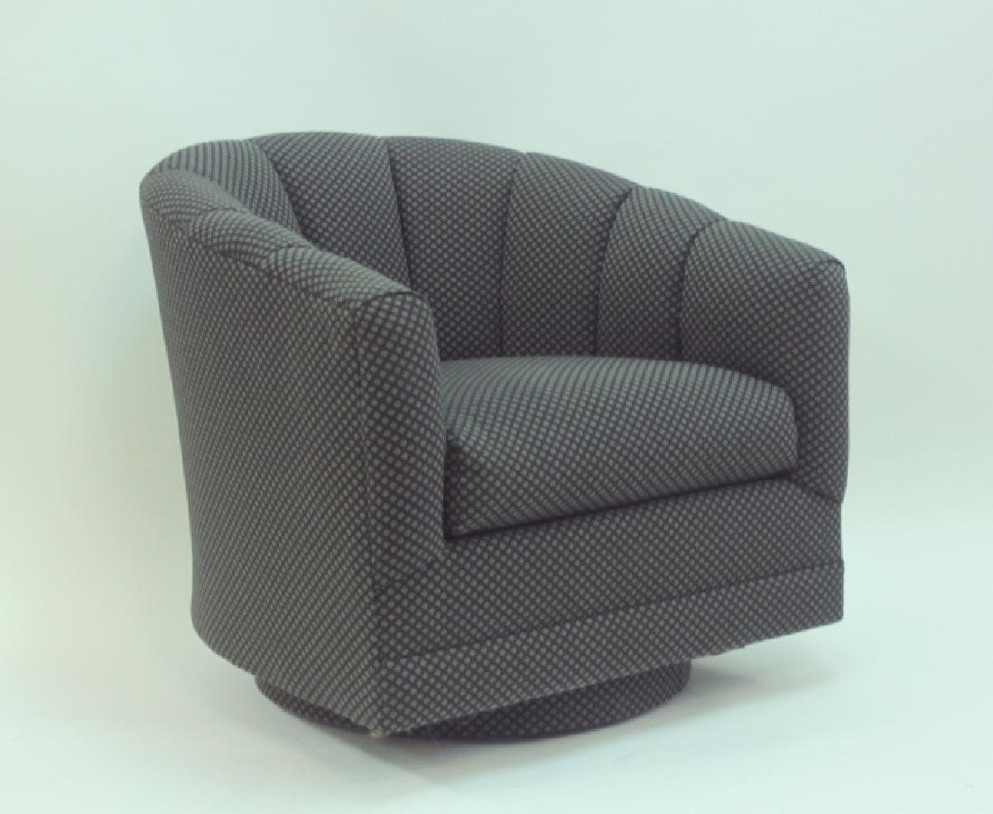 (4) Milo Baughman Swivel Base Tub Chairs - 2