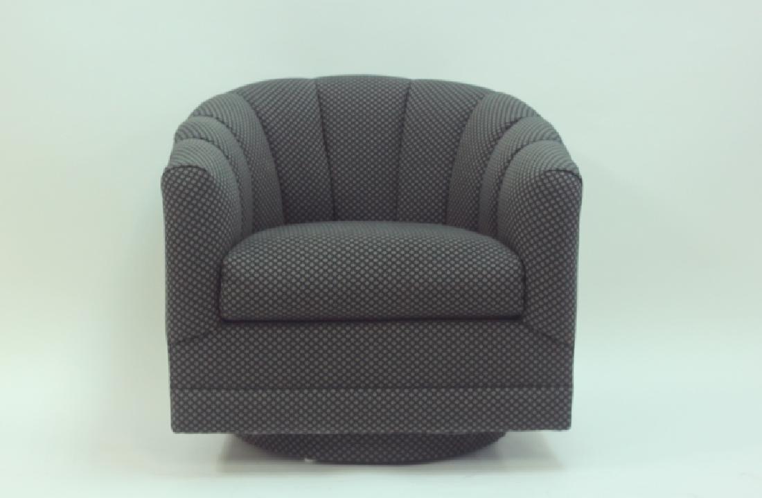(4) Milo Baughman Swivel Base Tub Chairs - 3