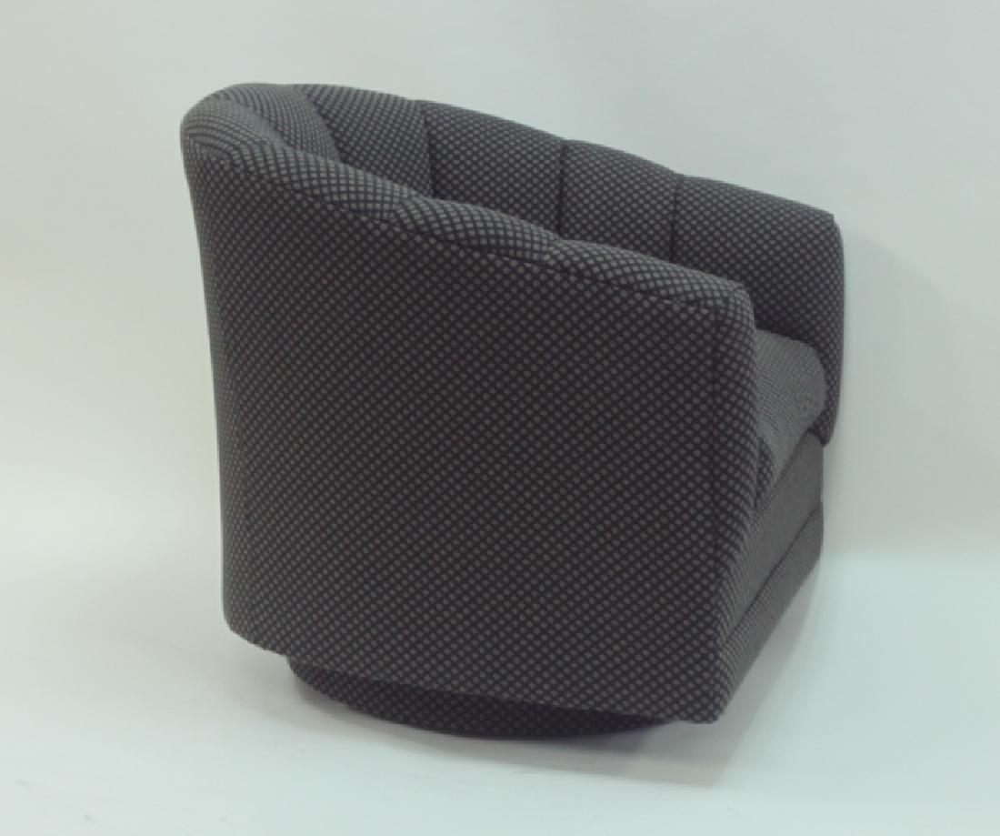 (4) Milo Baughman Swivel Base Tub Chairs - 4