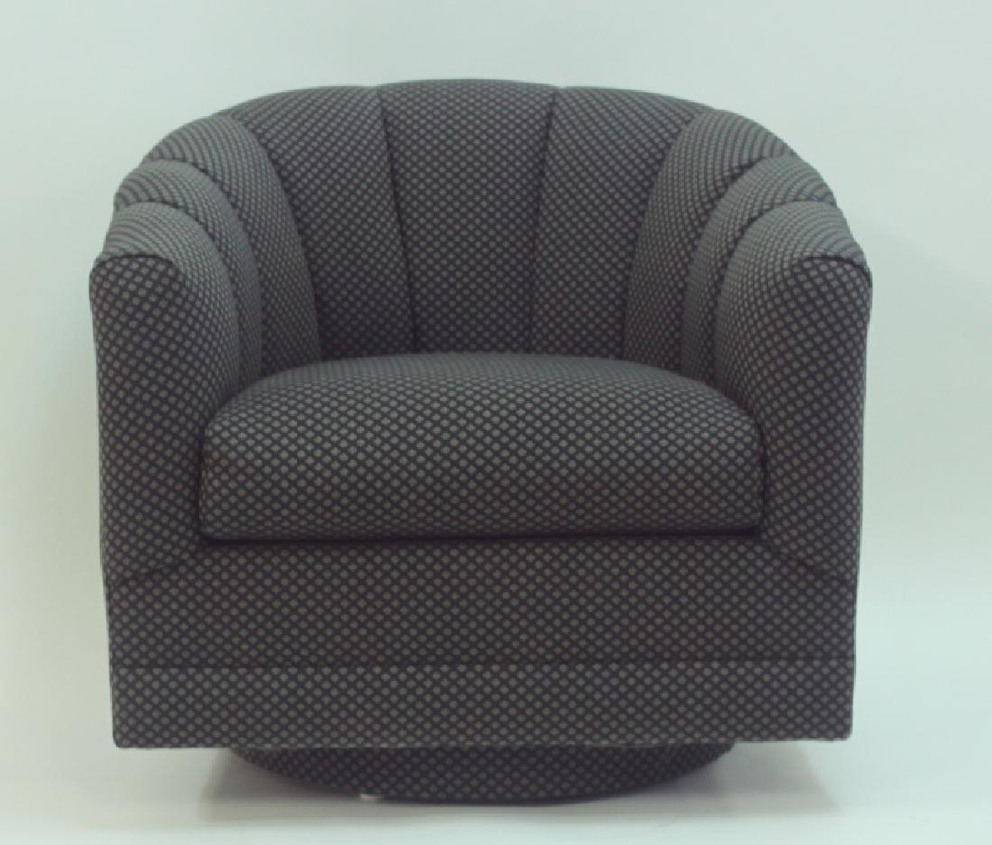 (4) Milo Baughman Swivel Base Tub Chairs - 5
