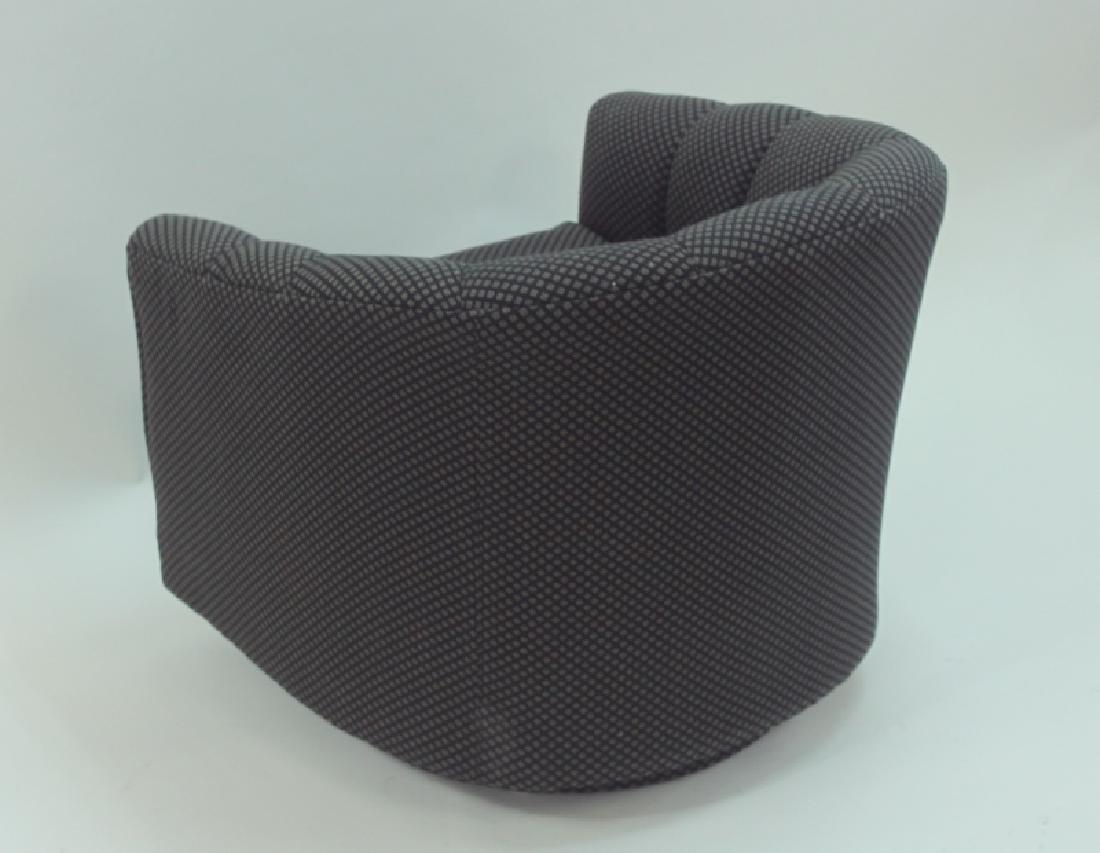 (4) Milo Baughman Swivel Base Tub Chairs - 6
