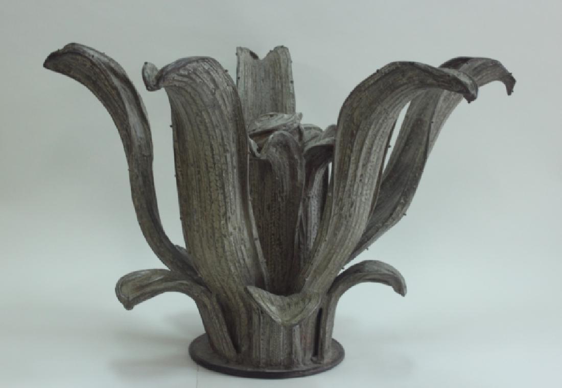 Hugo Cesar Ton Brass Agave Plant Sculpture Center Table