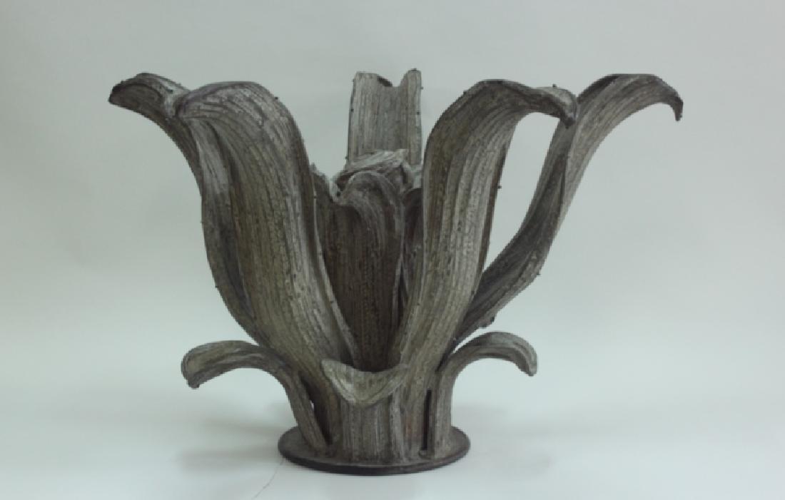 Hugo Cesar Ton Brass Agave Plant Sculpture Center Table - 3