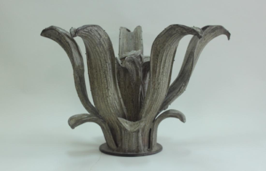Hugo Cesar Ton Brass Agave Plant Sculpture Center Table - 5