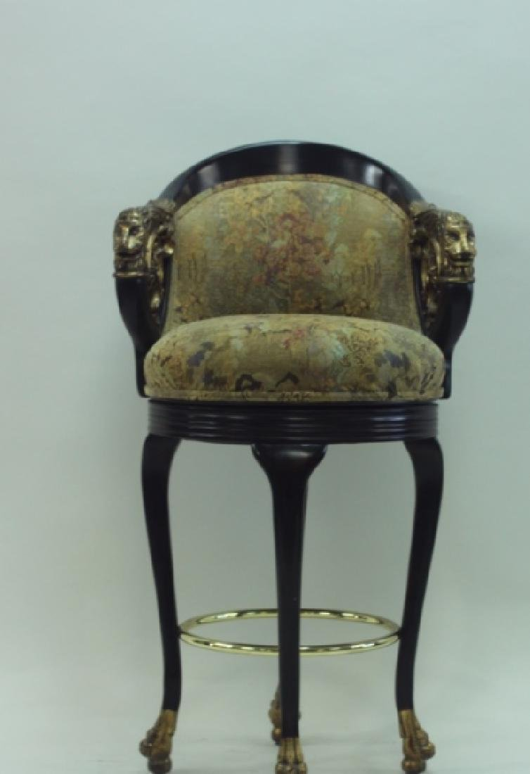 (4) Regency Barstools w Lion Heads & Claw Feet - 3