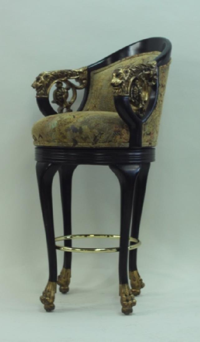 (4) Regency Barstools w Lion Heads & Claw Feet - 4